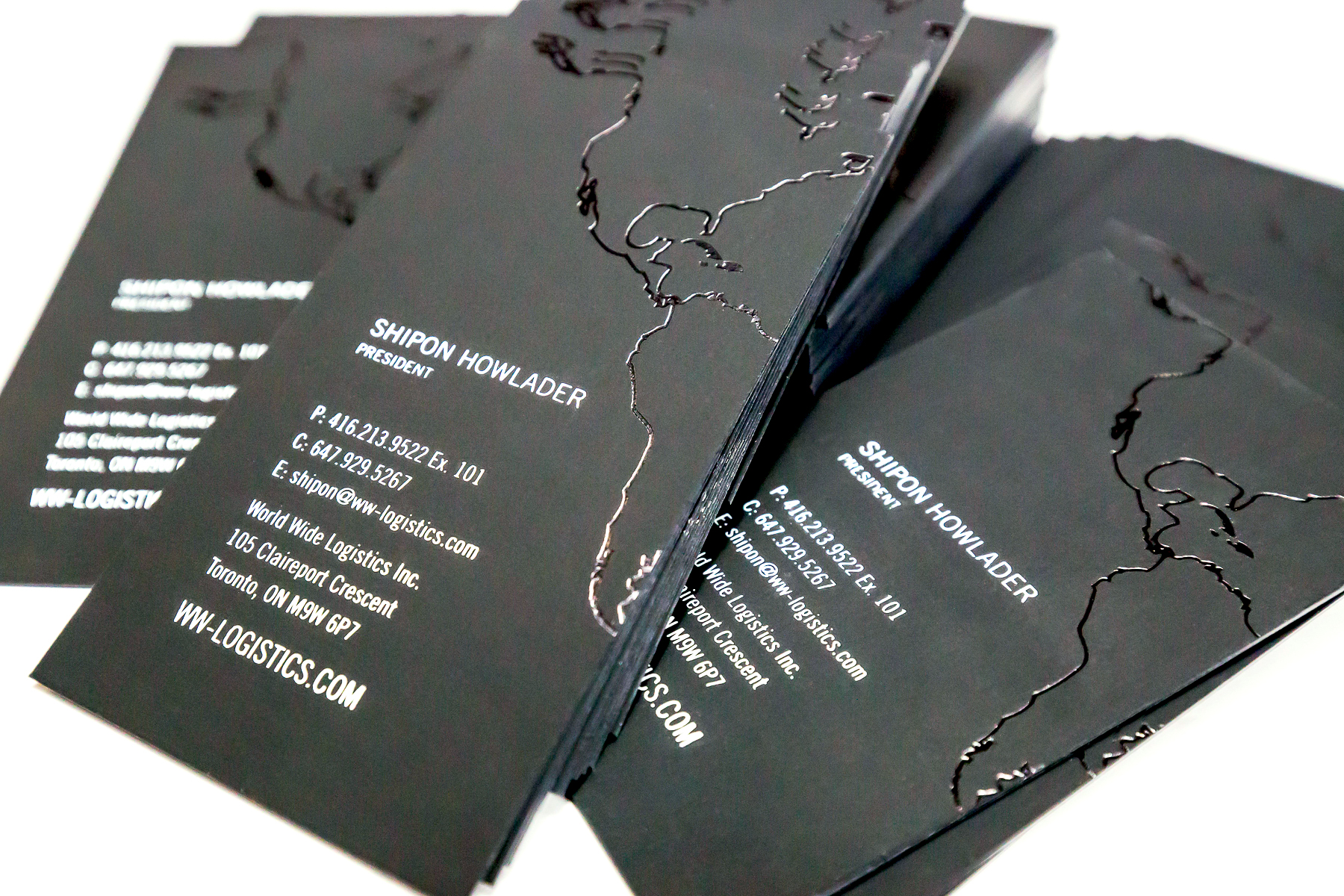business card design with spot uv